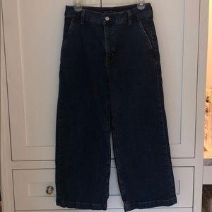 JCrew Mercantile Wide Leg Jeans